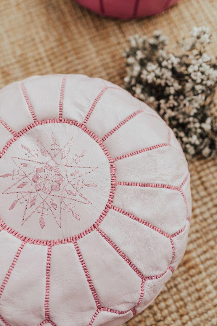 poufspillows poef leder roze