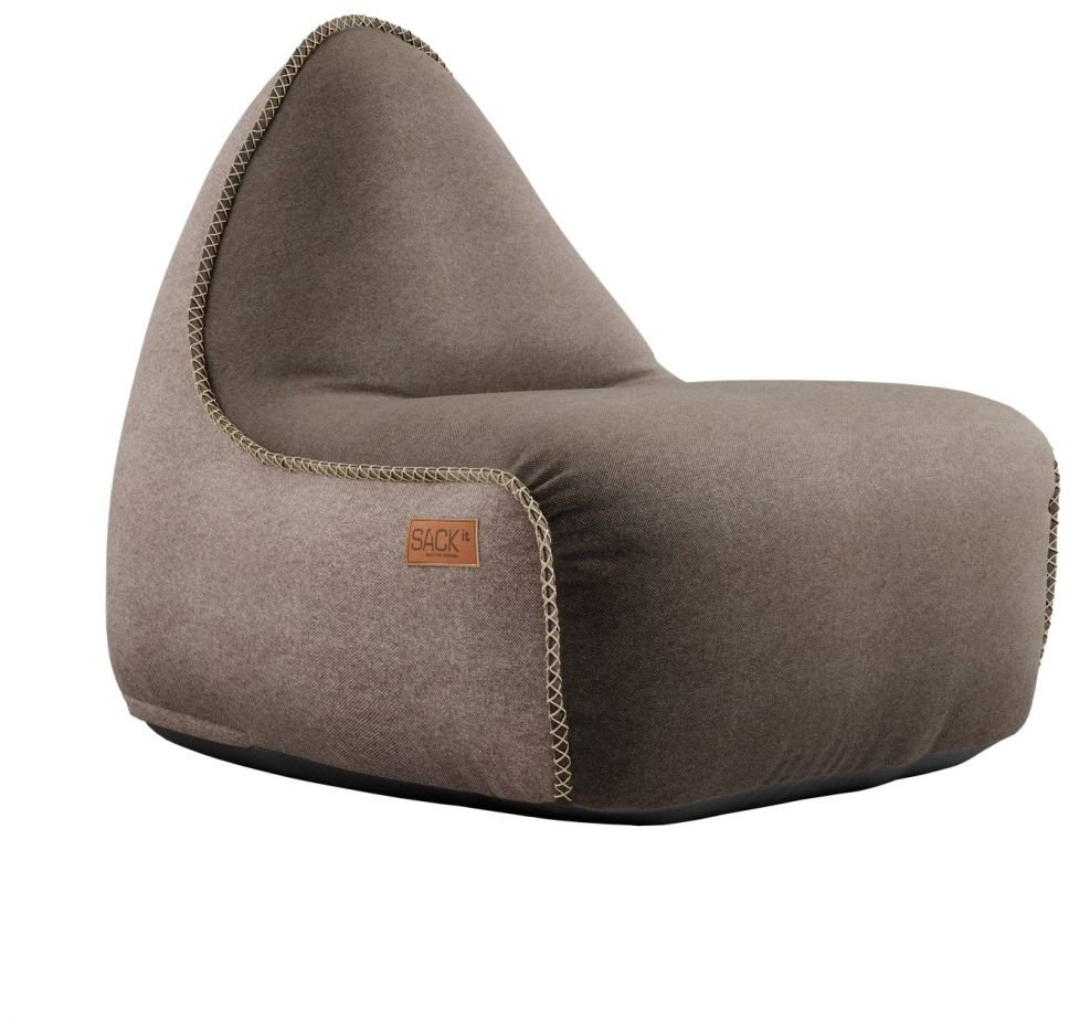 sackit canvas lounge chair pouf bruinzand