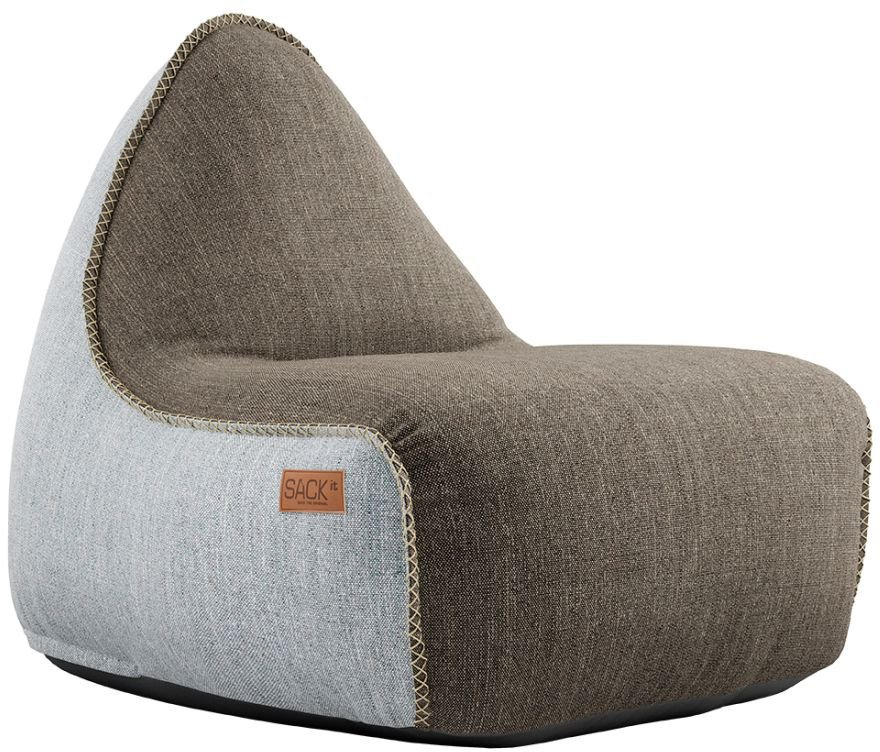 sackit cobana lounge chair pouf bruinwit