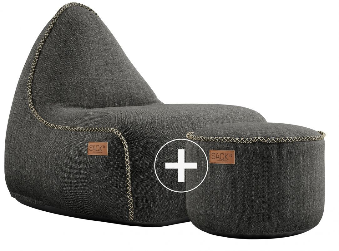 sackit cobana lounge chair pouf grijs