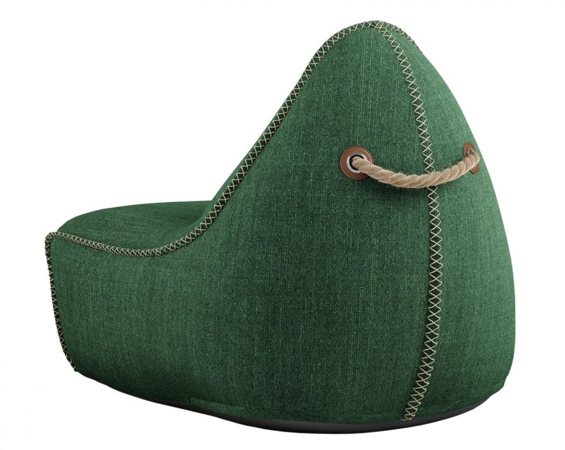 sackit cobana lounge chair pouf groen