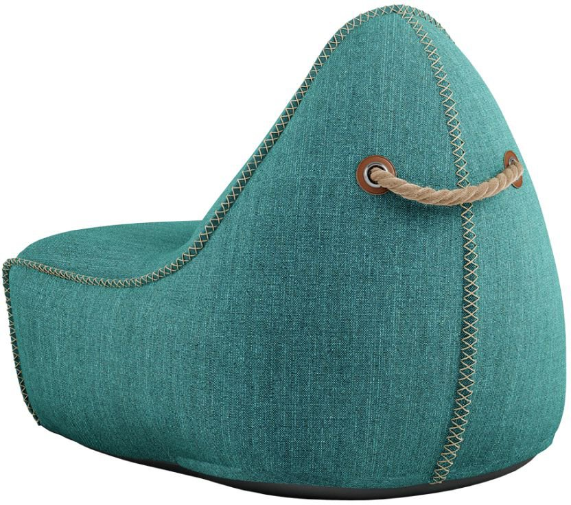 sackit cobana lounge chair pouf petrol