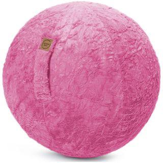 Sitting Ball Zitbal Fluffy 65 cm - Pink