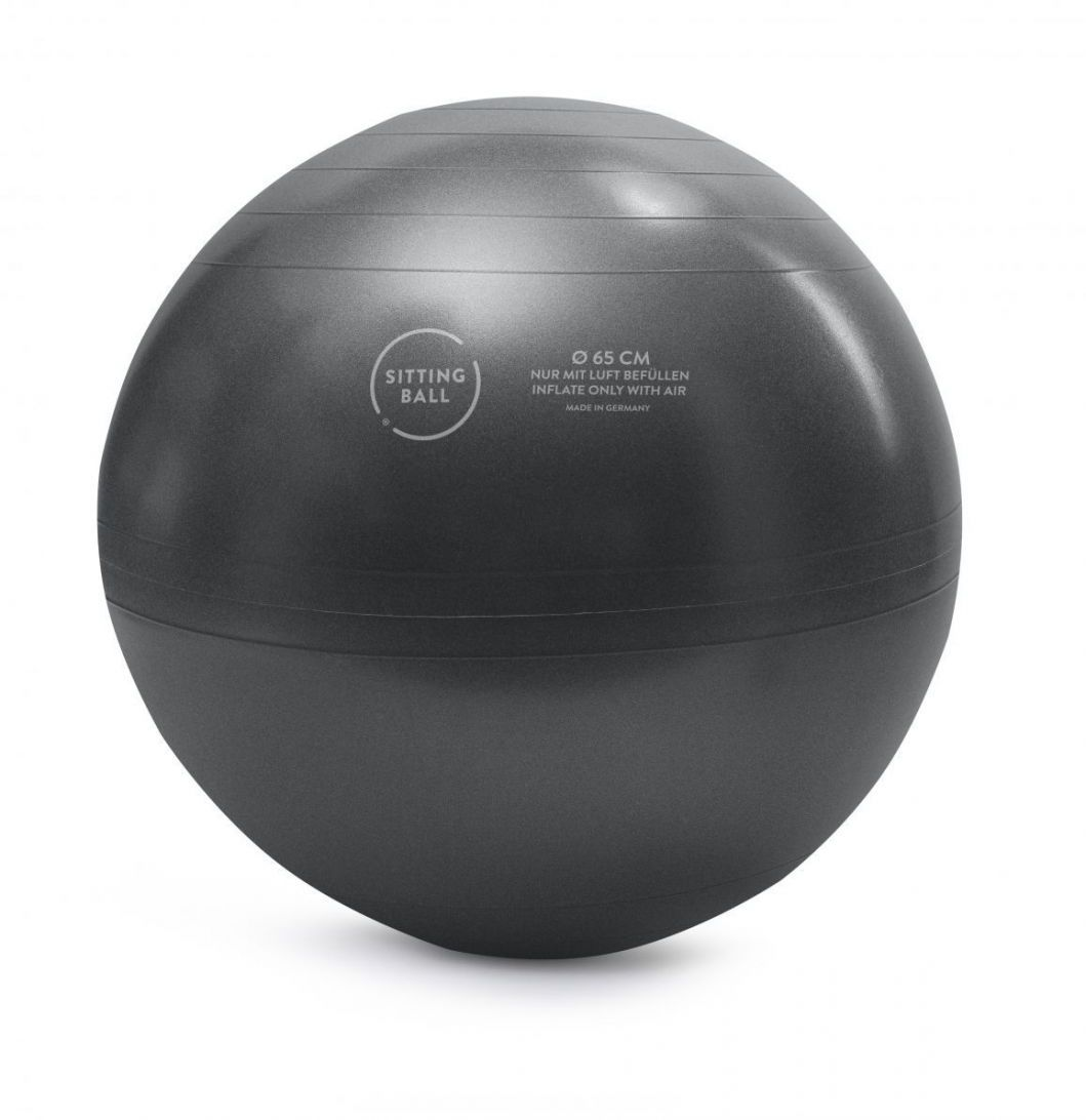 sitting ball zitbal iron 65 cm grau