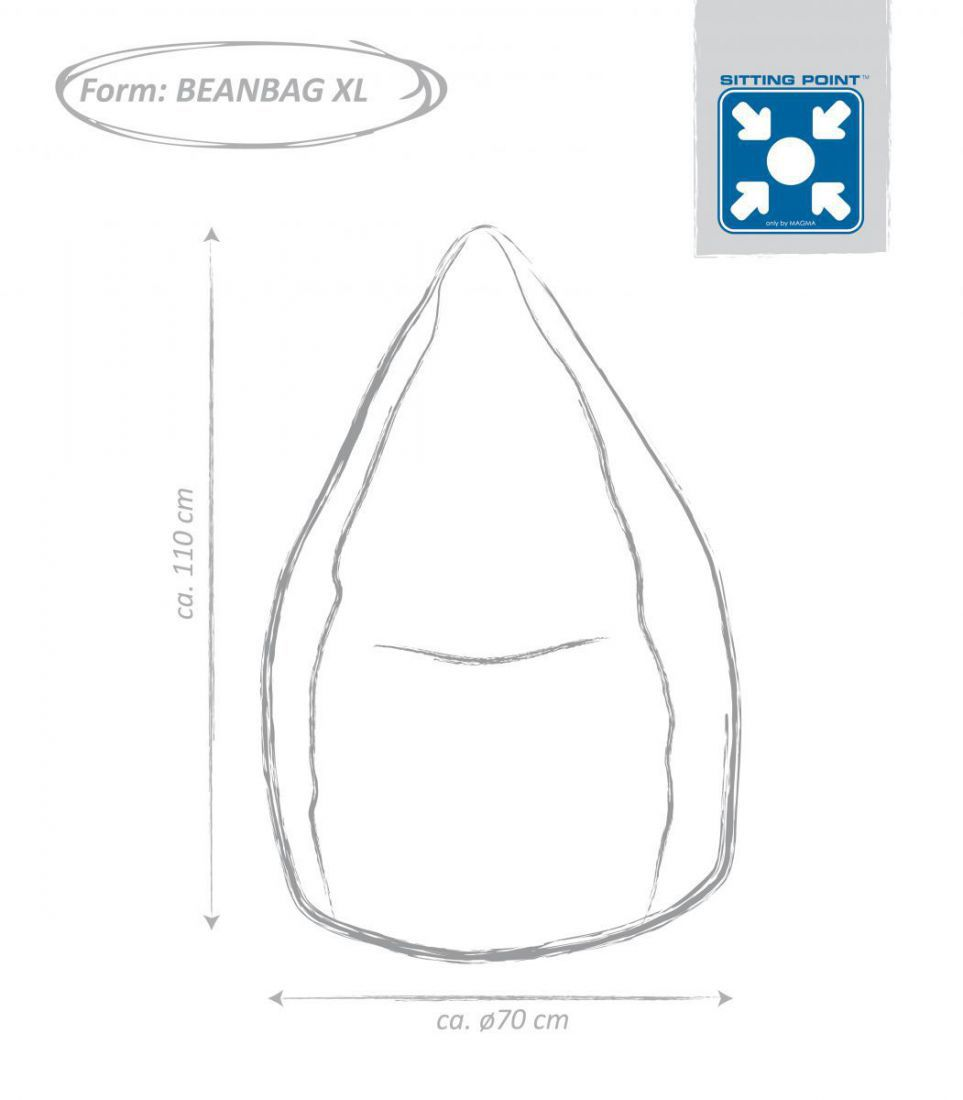 sitting point beanbag brava xl zwart