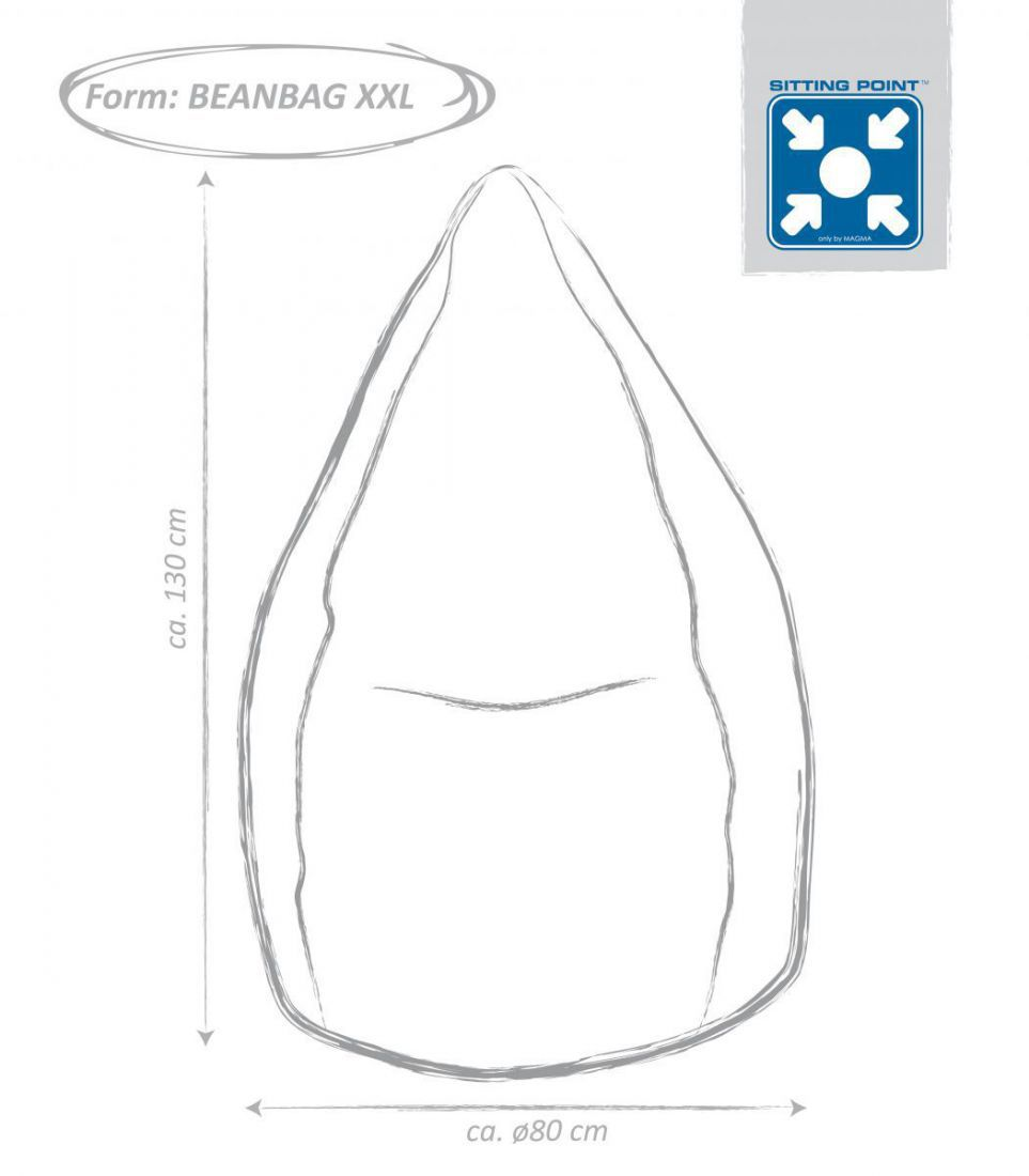 sitting point beanbag brava xxl blauw