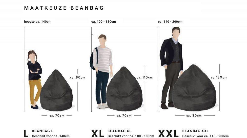 sitting point beanbag easy xl donkerblauw