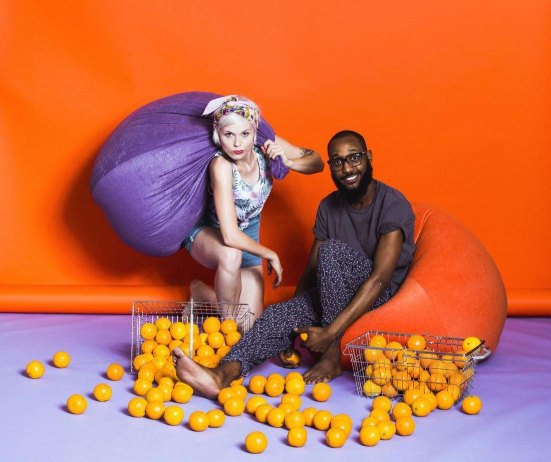 sitting point beanbag easy xl oranje
