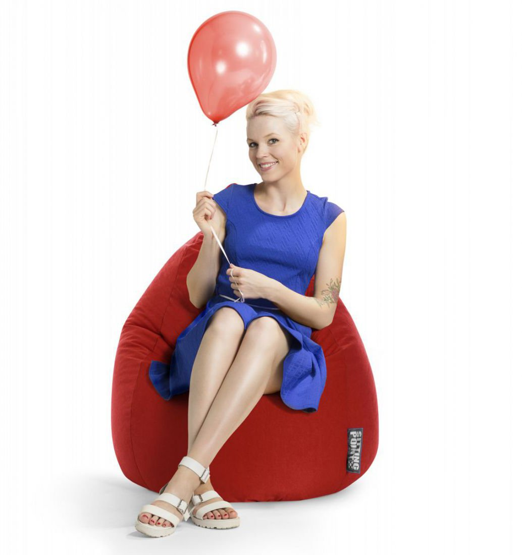 sitting point beanbag easy xl rood