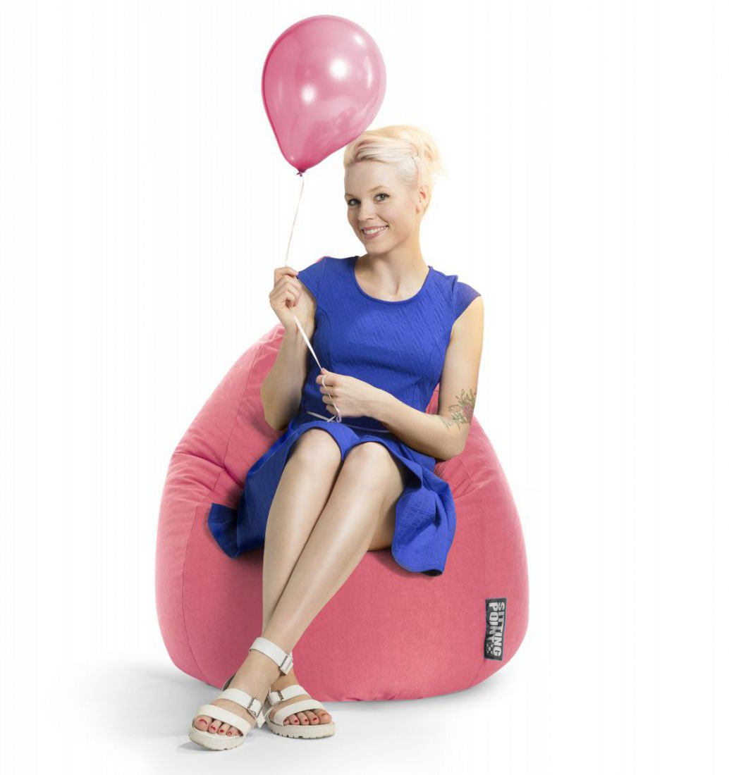sitting point beanbag easy xl roze