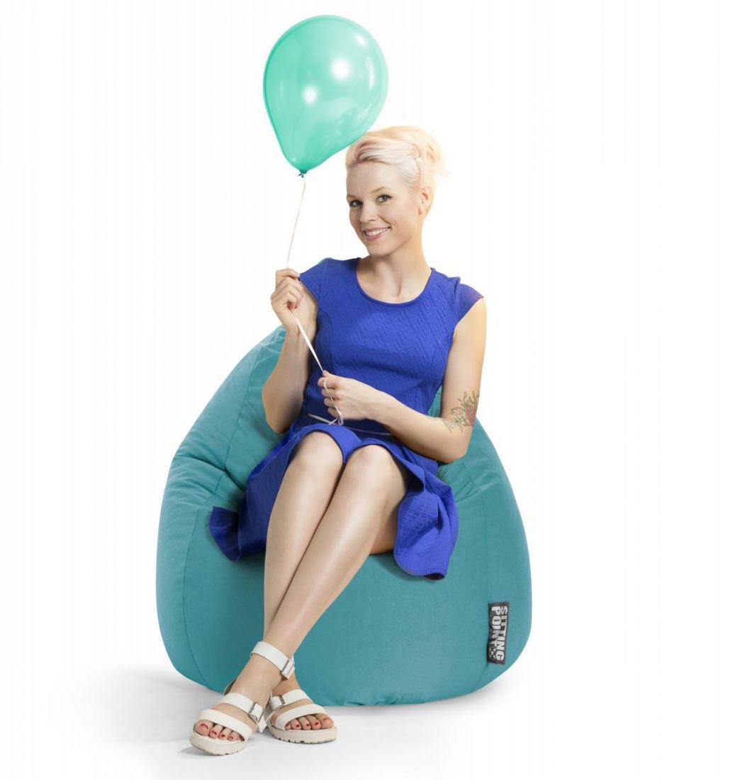 sitting point beanbag easy xl smaragd