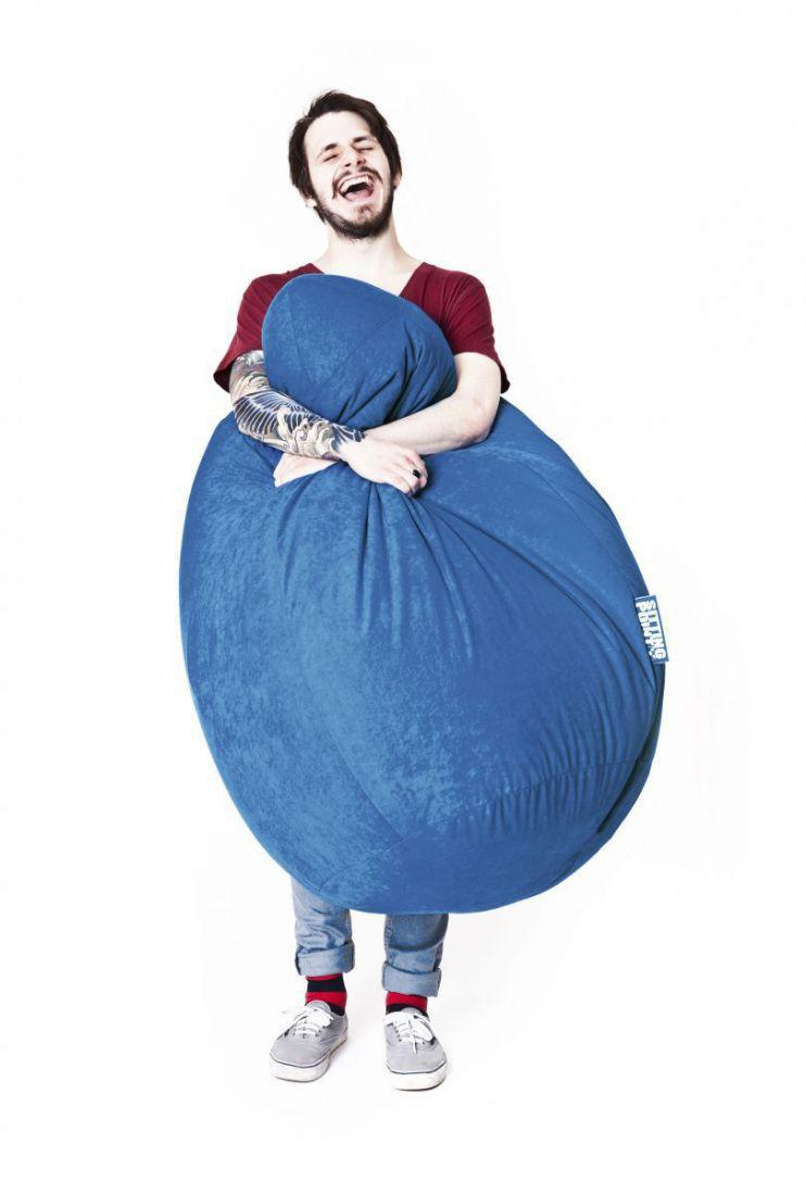 sitting point beanbag easy xxl blauw