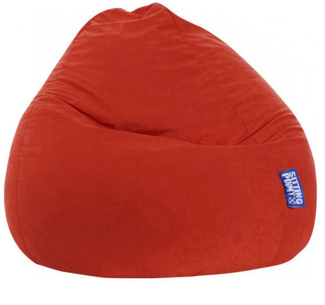 sitting point beanbag easy xxl tomaat