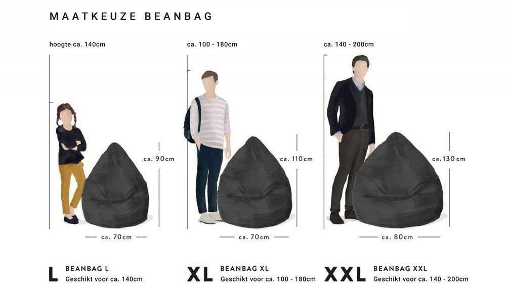 sitting point beanbag easy xxl zwart