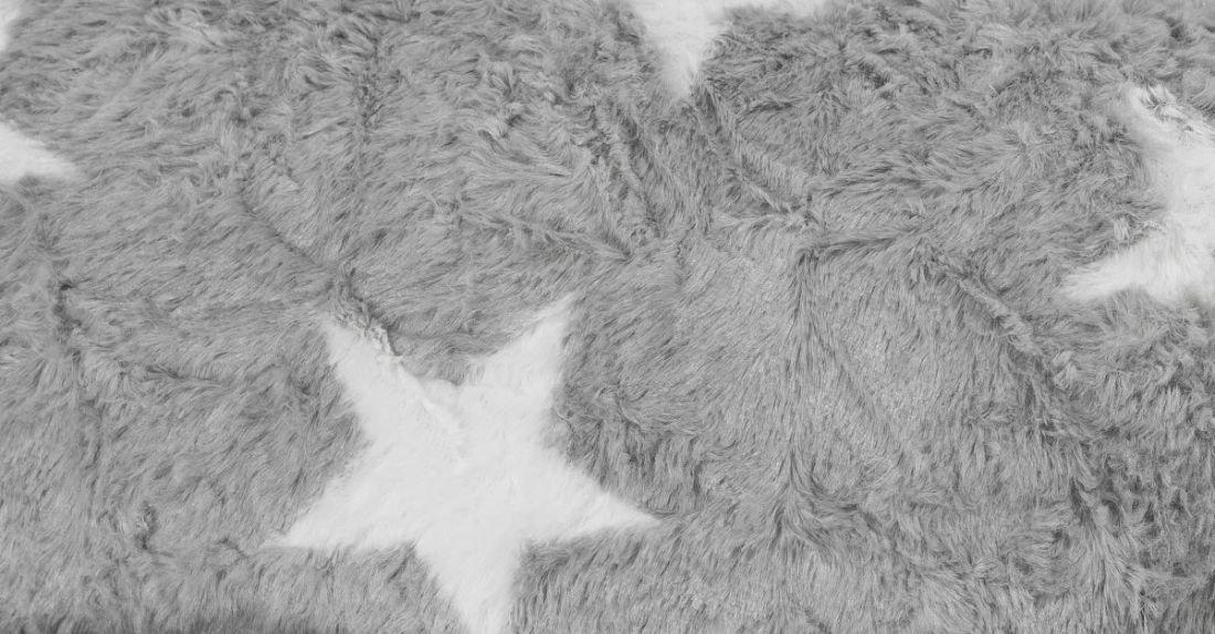 sitting point beanbag fluffy stars xl grijs