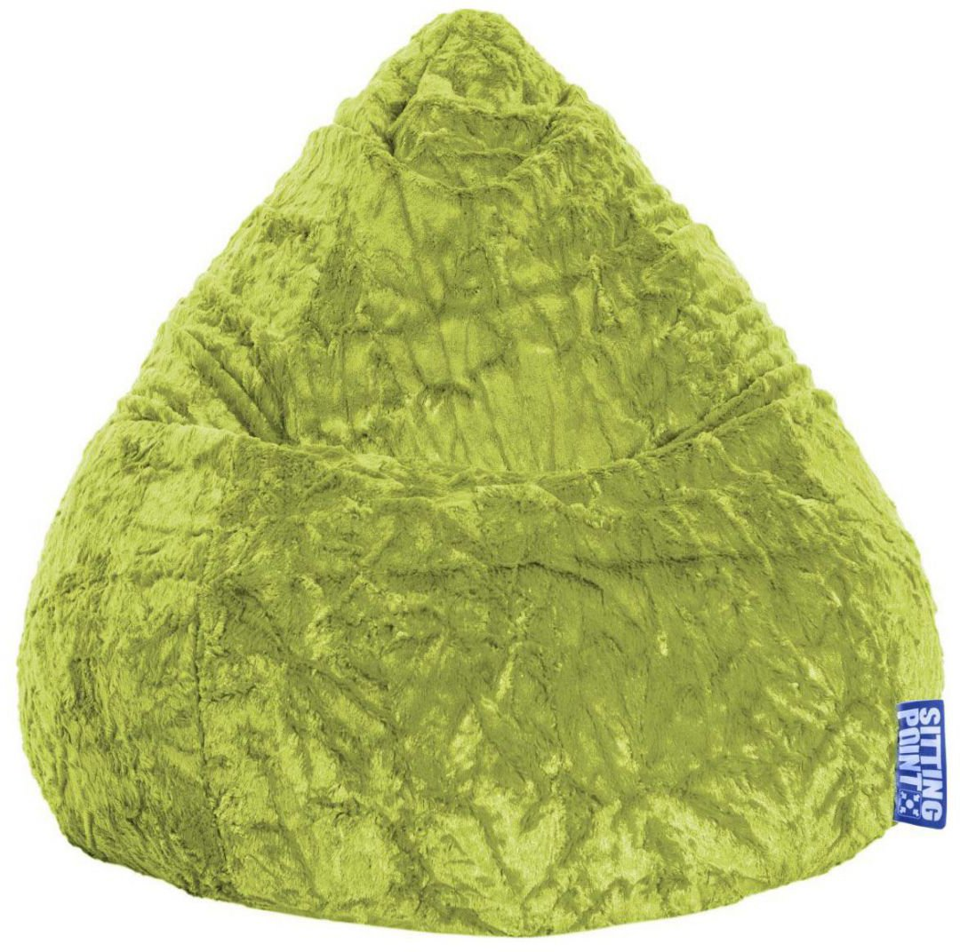 Sitting Point BeanBag Fluffy XL - Groen