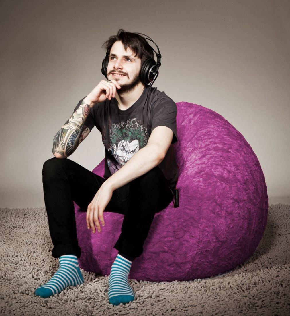 sitting point beanbag fluffy xl groen