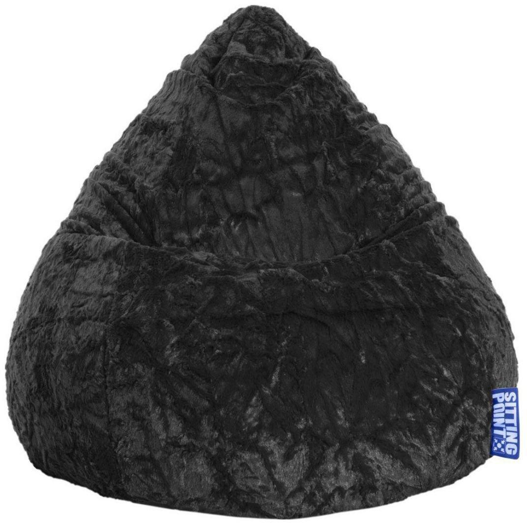 sitting point beanbag fluffy xl zwart