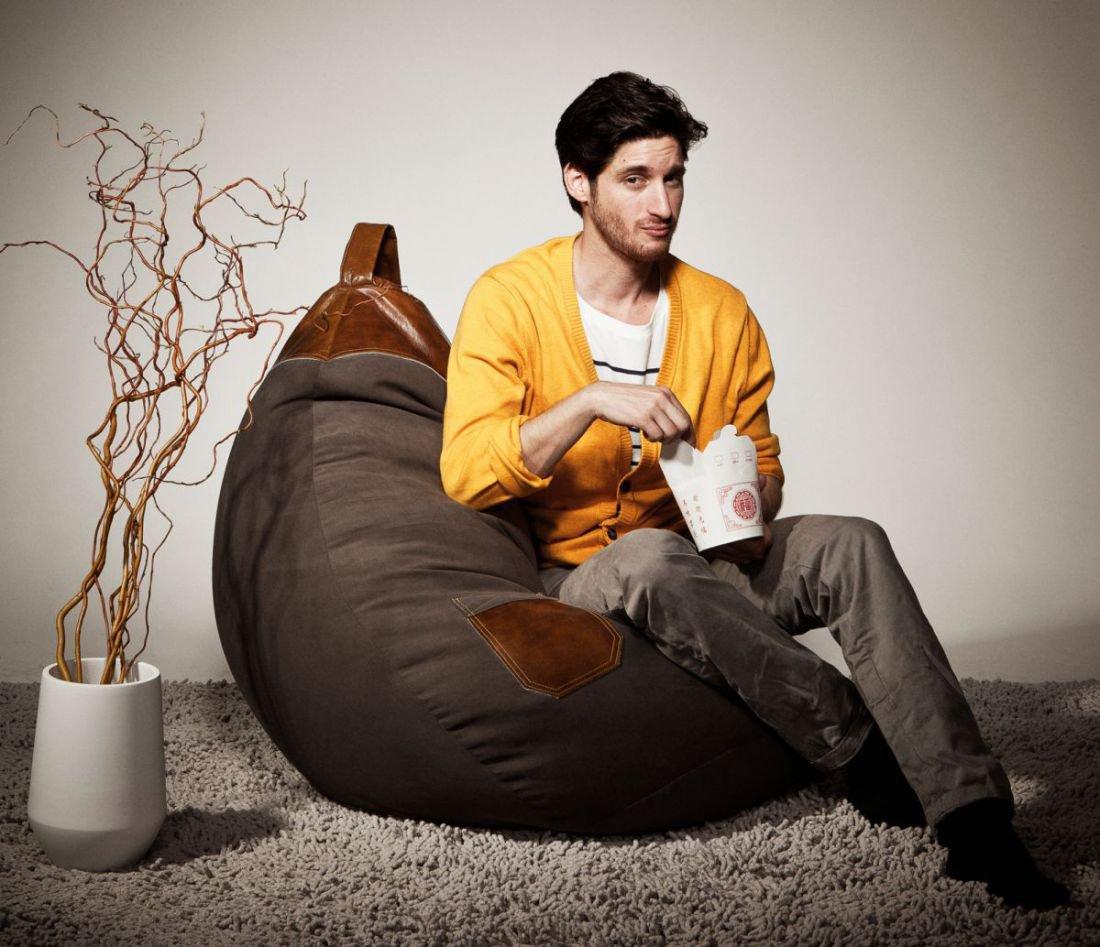 sitting point beanbag jamie xl bruin