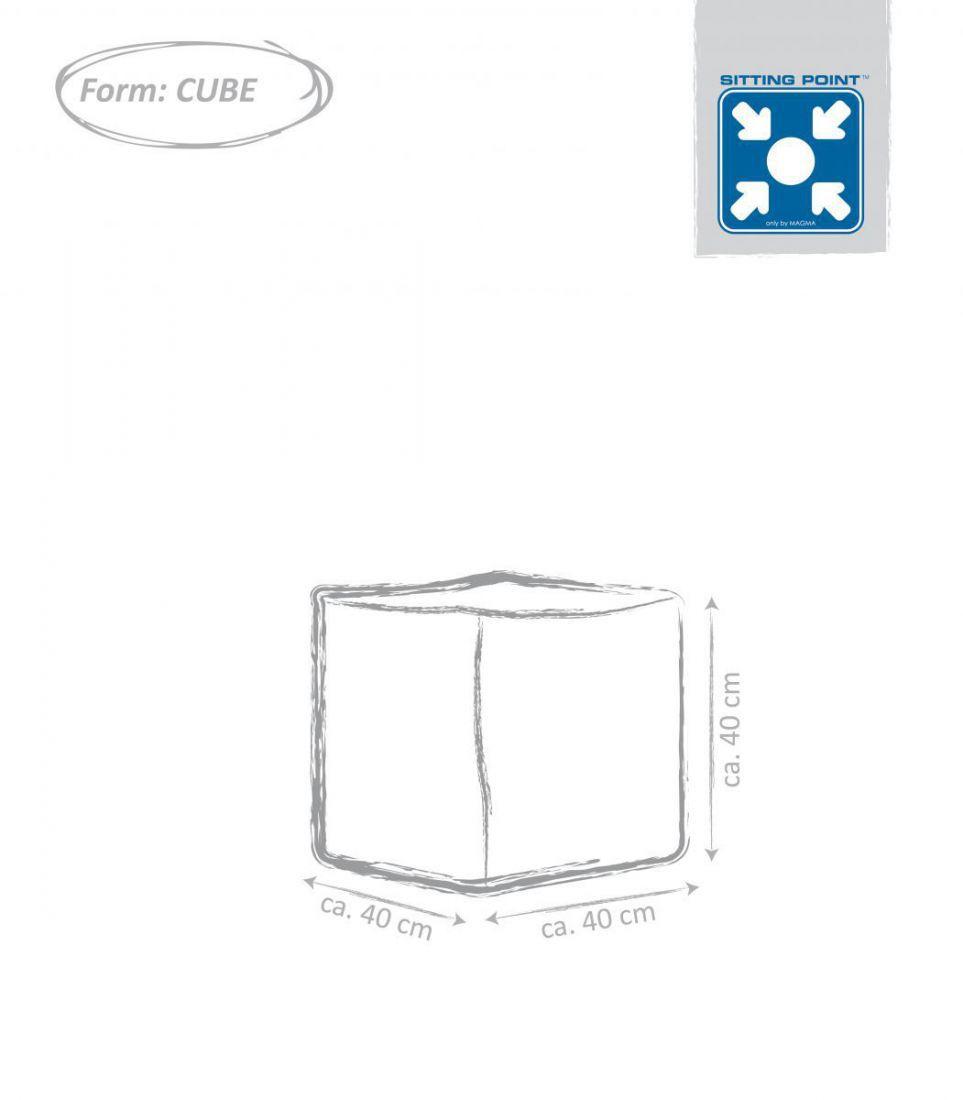 sitting point cube scuba zwart