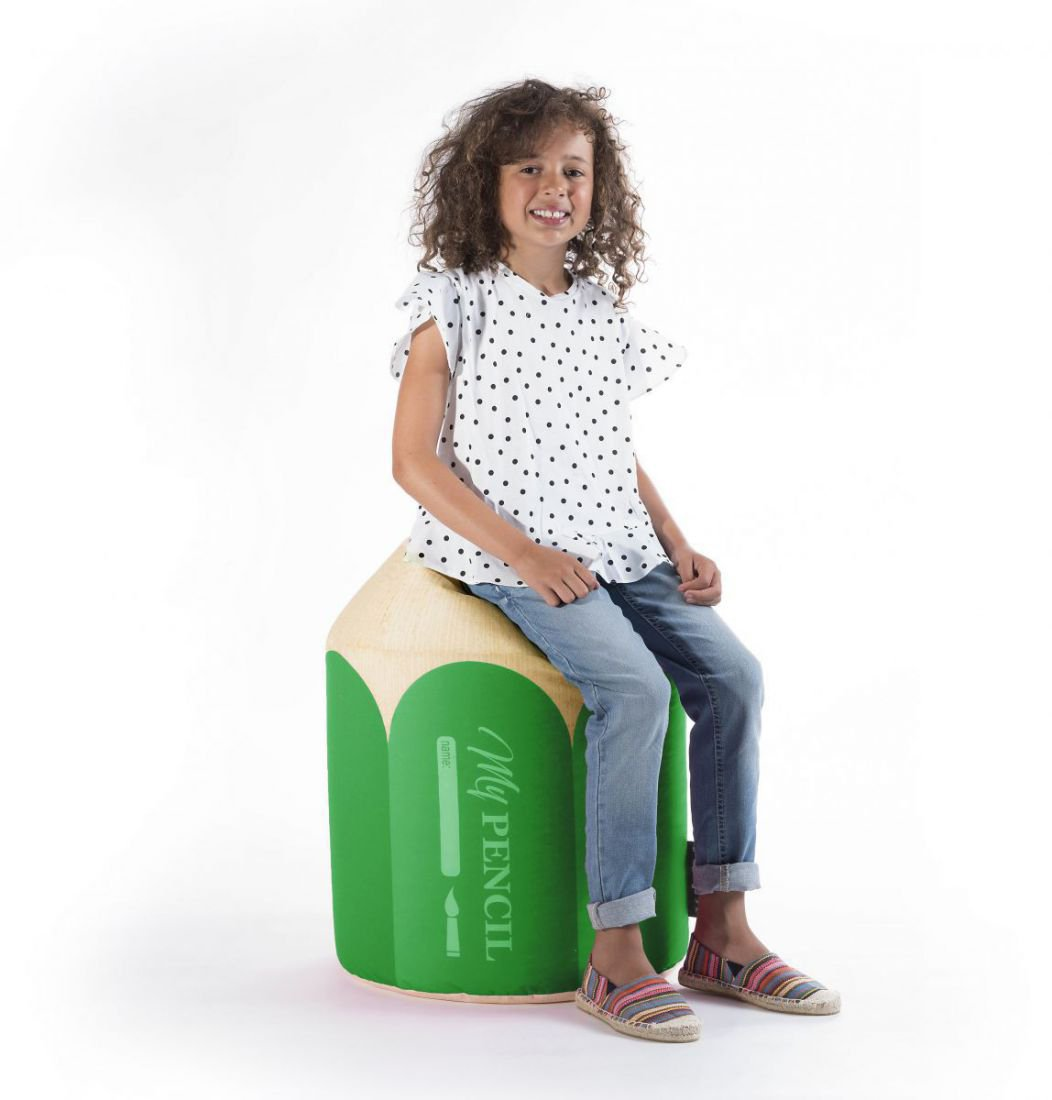 sitting point kinder poef dotcom pencil groen