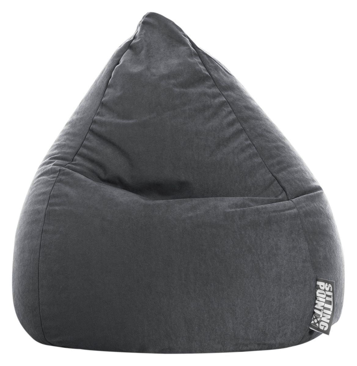 sitting point kinder zitzak beanbag easy l antraciet