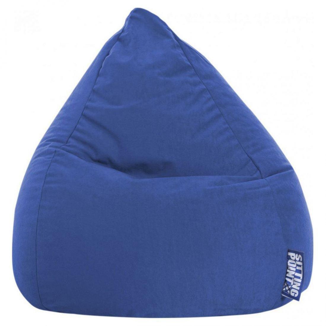 sitting point kinder zitzak beanbag easy l donkerblauw