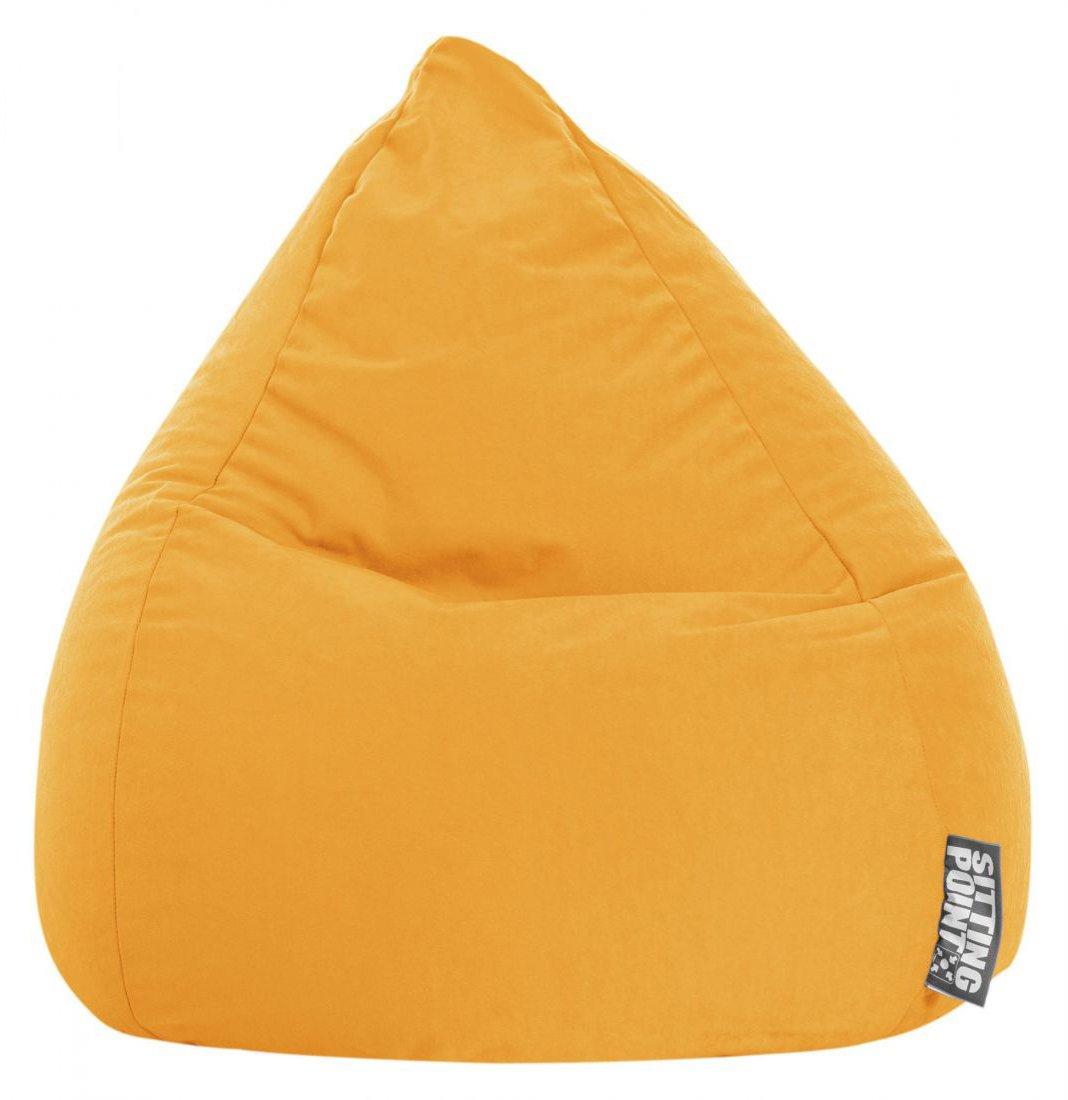 sitting point kinder zitzak beanbag easy l geel