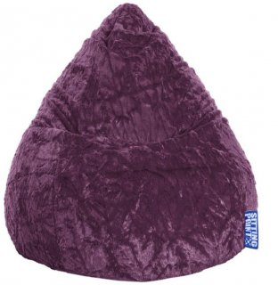 Sitting Point Kinder Zitzak BeanBag Fluffy L - Aubergine
