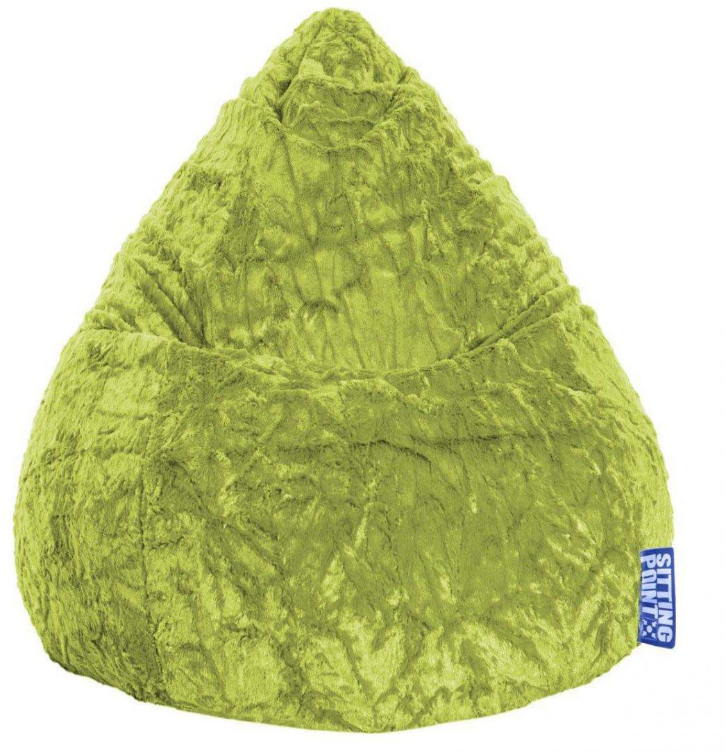 sitting point kinder zitzak beanbag fluffy l groen