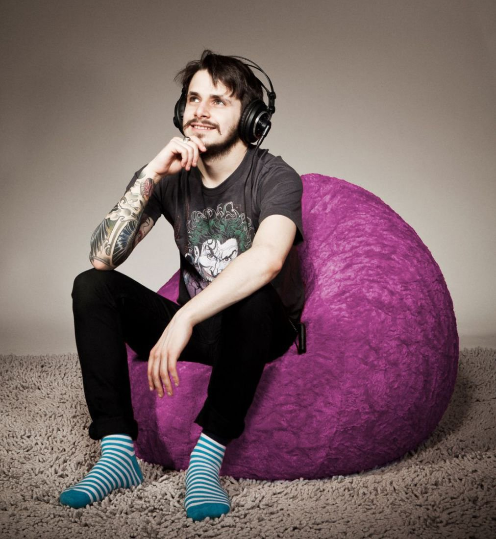 sitting point kinder zitzak beanbag fluffy l roze