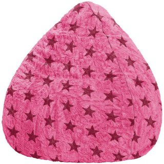 Sitting Point Kinder Zitzak BeanBag Fluffy Stars L - Roze