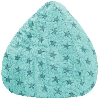 Sitting Point Kinder Zitzak BeanBag Fluffy Stars L - Turquoise