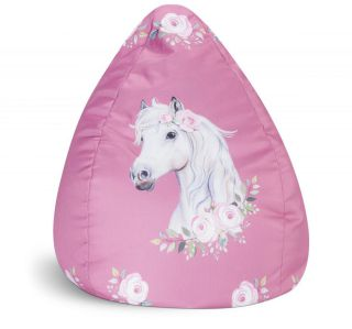 Sitting Point Kinder Zitzak BeanBag Horse - Rose