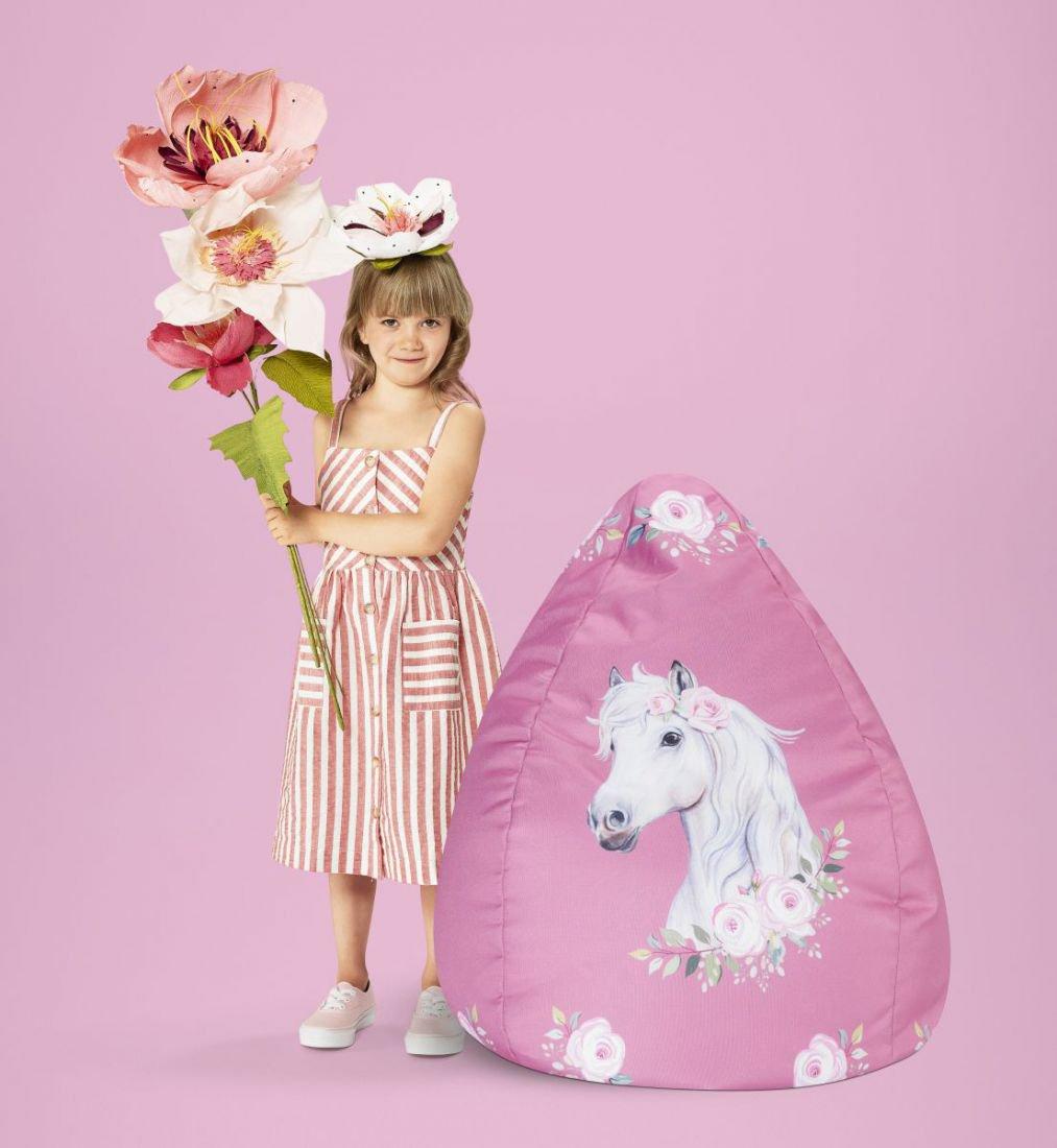 sitting point kinder zitzak beanbag horse rose