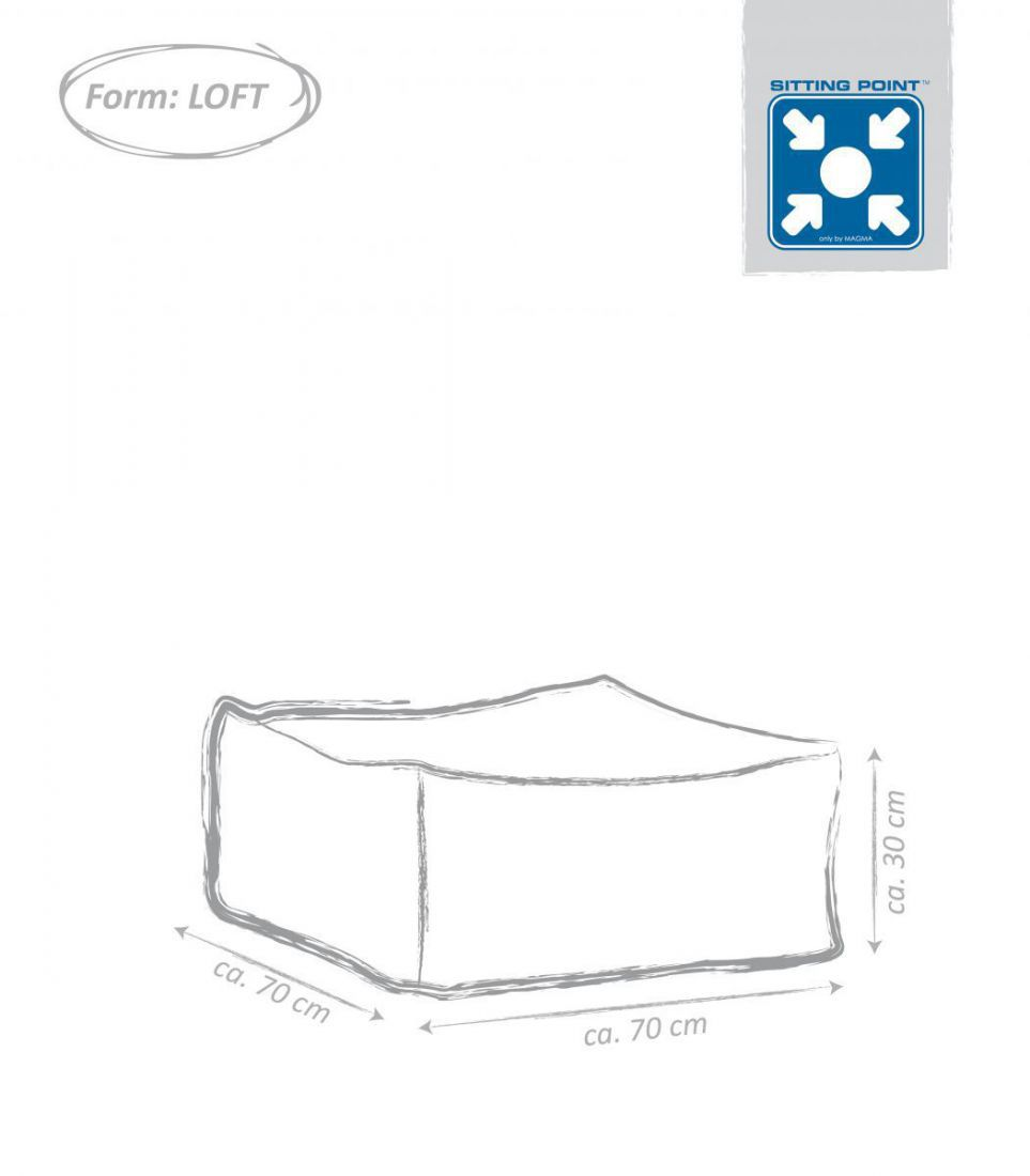 sitting point loft cuba donkerbruin