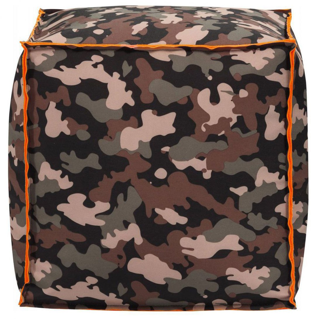 Sitting Point Poef Cube Camo - Olive