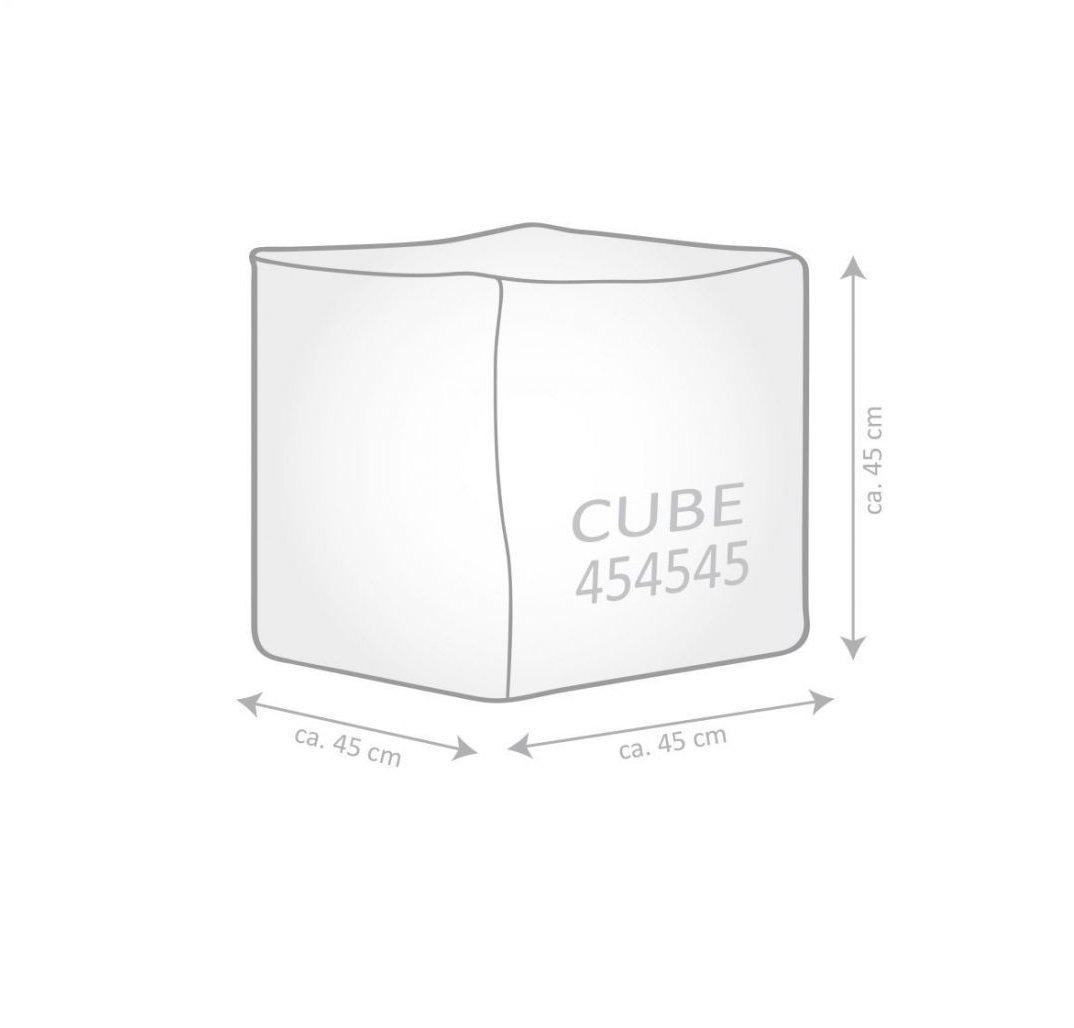 sitting point poef cube manacor beige