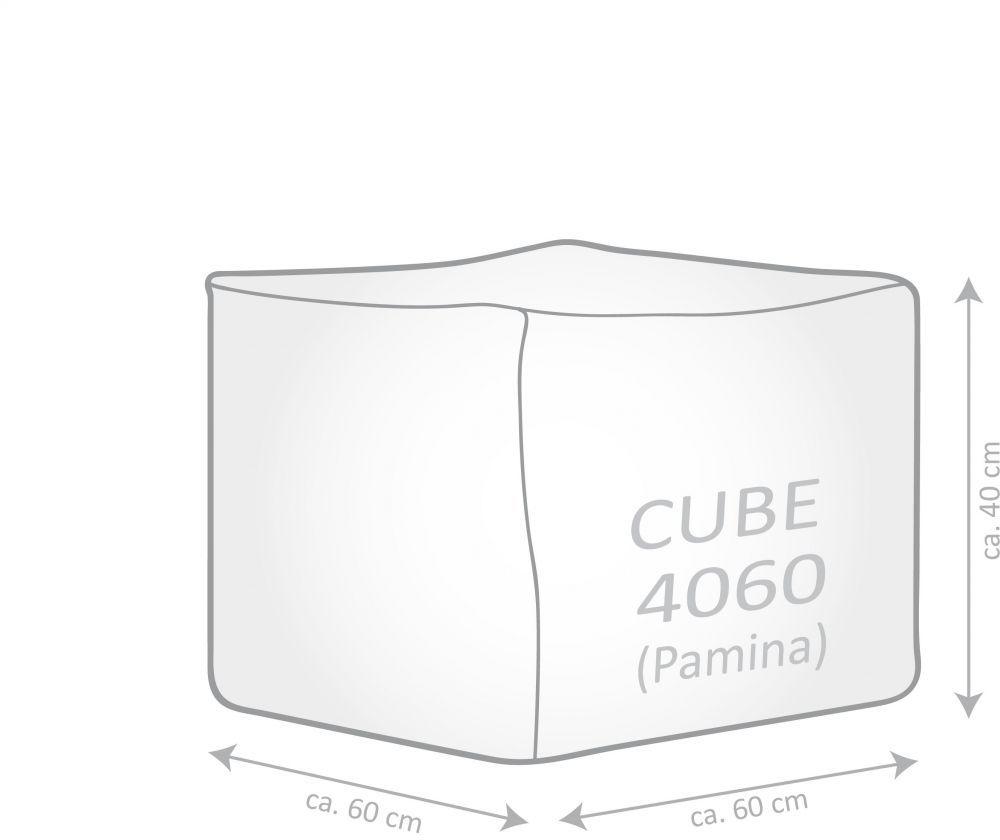 sitting point poef cube pamina ruby