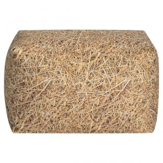 Sitting Point Poef Cube Straw - Beige