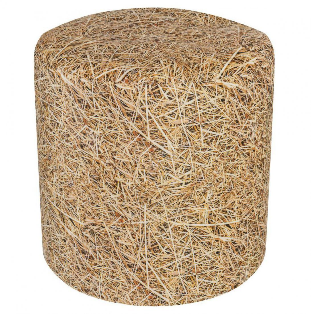 sitting point poef dot com straw beige