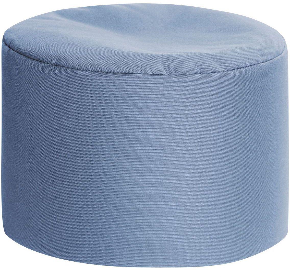 sitting point poef dotcom outside blue