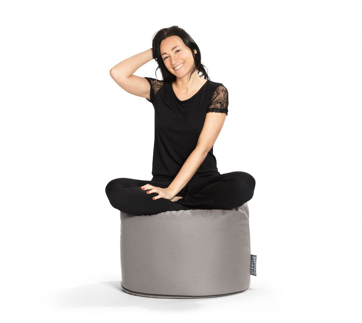 sitting point poef dotcom outside grey
