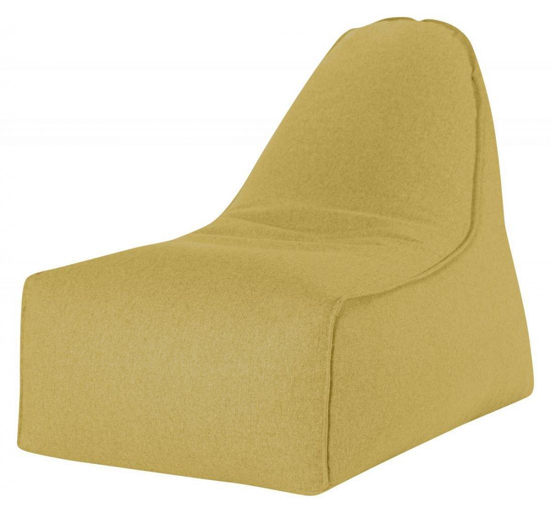 sitting point zitzak stoel boogie felt okergeel