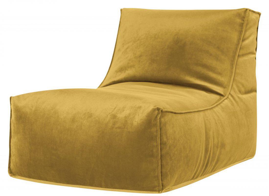 sitting point zitzak stoel rock veluto okergeel