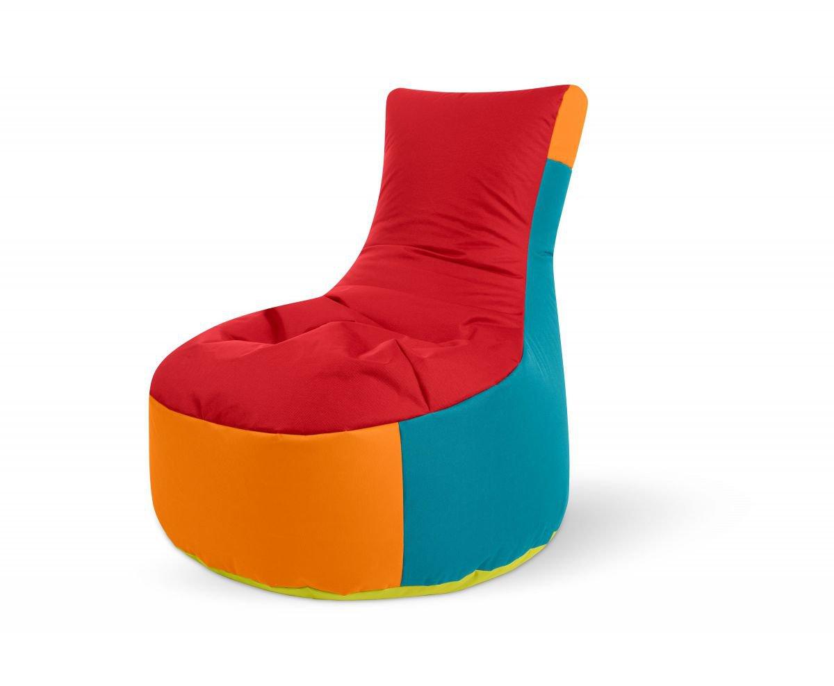 sitting point zitzak stoel swing harlekin colorful