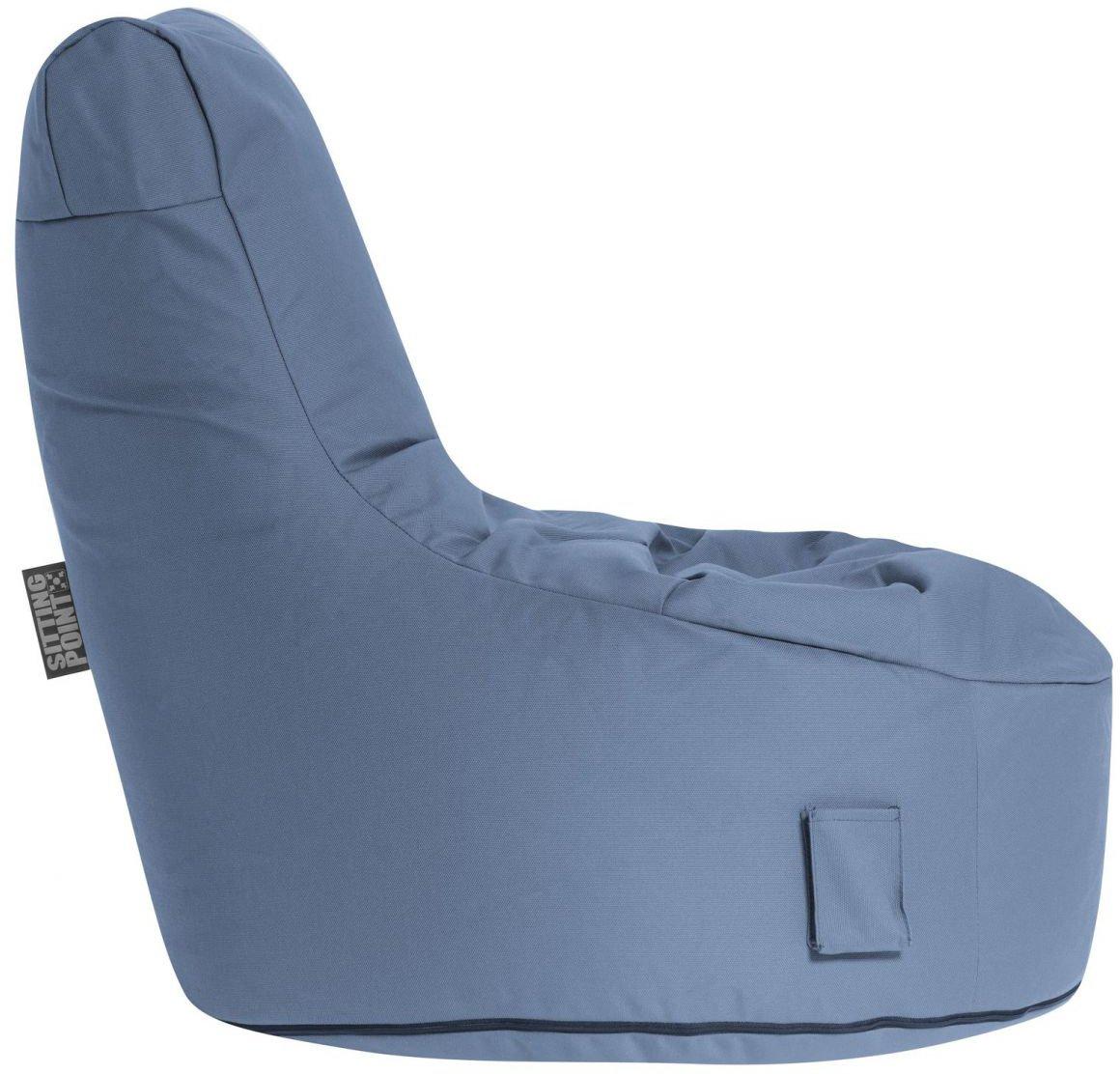 sitting point zitzakstoel swing outside blue