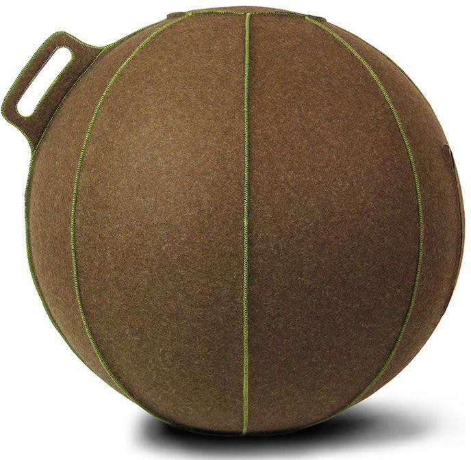 Vluv Velt zitbal Bruin-Melange/Groen 65cm