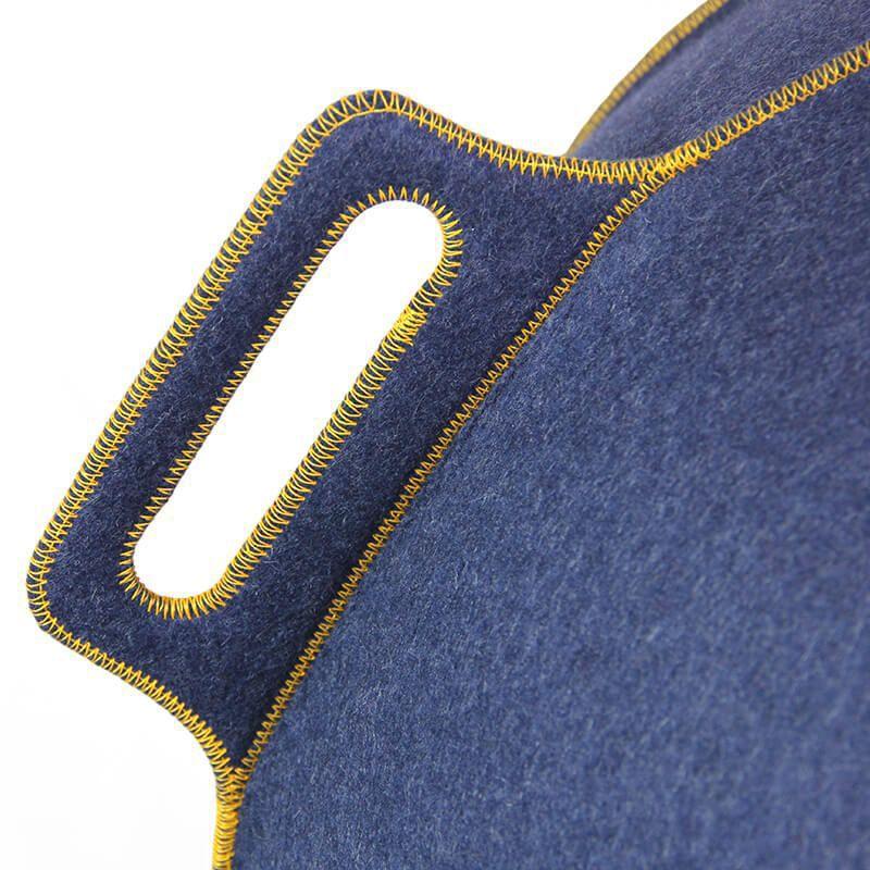 vluv velt zitbal jeansmelangegoud 65cm
