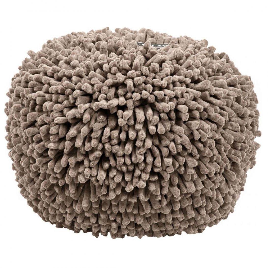 ziczac design poef spiky taupe